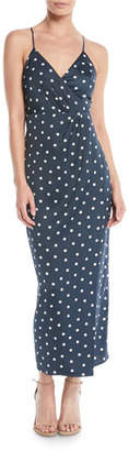 Bardot Spotty Dot-Print Sleeveless Wrap Dress