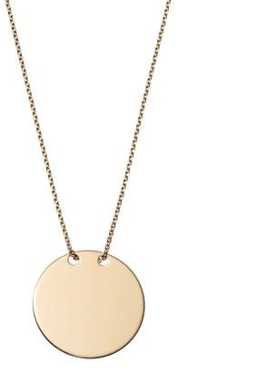 Gold disc pendant necklace shopstyle 14k gold disc pendant necklace aloadofball Choice Image