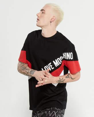 Love Moschino Cut & Sew Logo Short Sleeve Tee