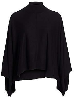 Joan Vass Joan Vass, Plus Size Women's Modern-Fit Turtleneck Poncho Sweater