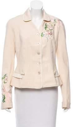 Christian Dior Embroidered Silk Blazer