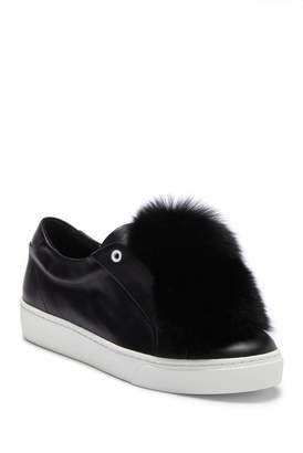 Sabrina Here / Now Genuine Fox Fur Slip-On Sneaker