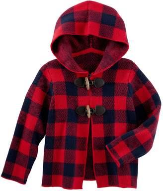 Osh Kosh Oshkosh Bgosh Baby Girl Buffalo Check Midweight Sweater Jacket
