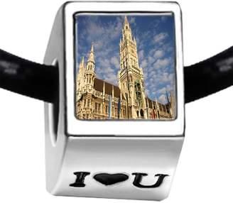 Munich GiftJewelryShop Travel Art Museums Germany I Love You Bead Charm Bracelets
