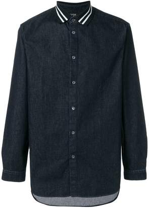 No.21 polo collar chambray shirt