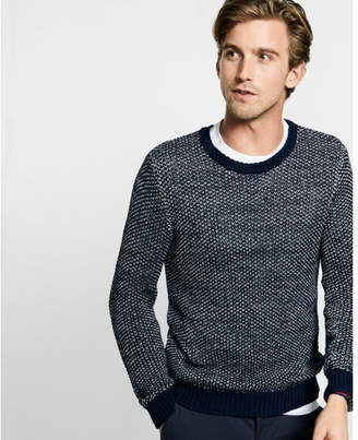 Express tape yarn crew neck sweater