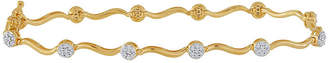 JCPenney FINE JEWELRY diamond blossom 1/2 CT. T.W. Diamond Cluster Swirl Bracelet