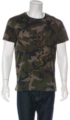 Valentino 2016 Camouflage Funky Dragon T-Shirt