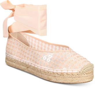 AVEC LES FILLES Georgie Tie-Up Espadrille Flats Women's Shoes