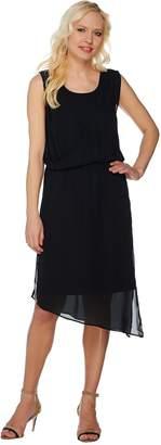 Halston H By H by Jet Set Jersey Dress with Draped Chiffon Overlay