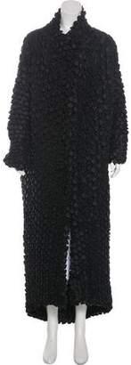 Issey Miyake Textured Long Coat