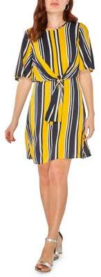 Dorothy Perkins Striped Tie-Front Shirt Dress