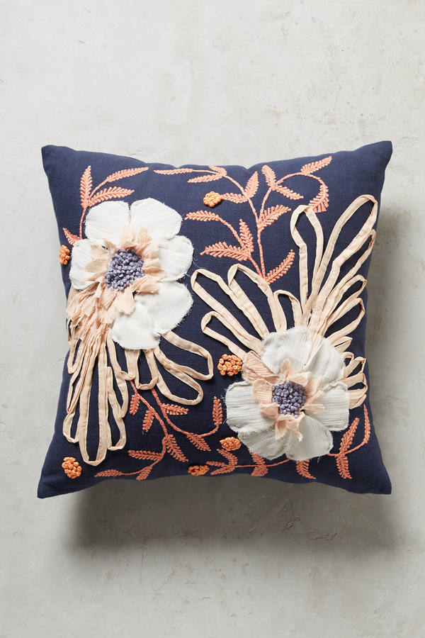 Anthropologie Anthropologie Embroidered Samia Pillow