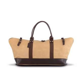 EAZO - Waxed Canvas & Leather Weekend Bag Tan