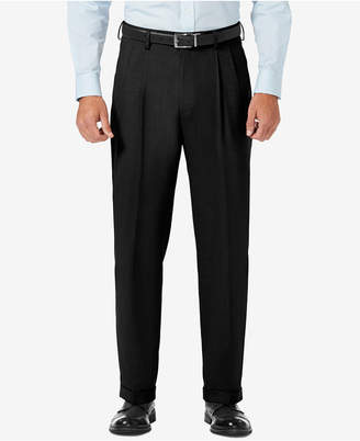 Haggar J.m. Classic Fit Pleated Stretch Sharkskin Dress Pants
