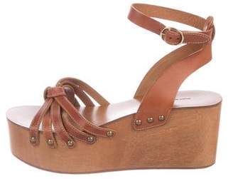 Etoile Isabel Marant Leather Ankle Strap Wedges