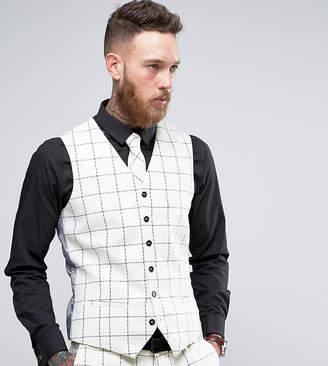 Heart & Dagger Skinny Vest In Wool Tweed