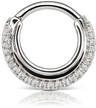 Maria Tash 8mm Dhara Single Hoop Earring - White Gold