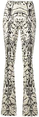 Roberto Cavalli animal print flared leggings