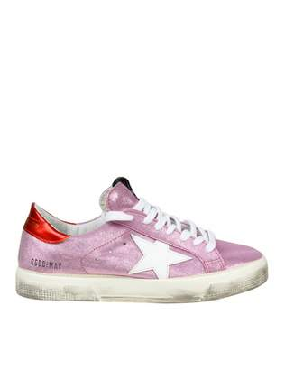 Golden Goose Sneakers May In Glitter Pink Suede