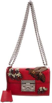 Gucci Embroidered Small Padlock Shoulder Bag