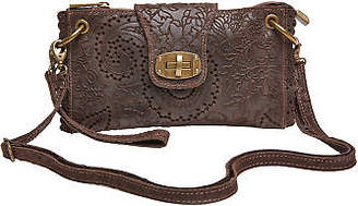 Joe Browns Womens Embossed Leather Handbag Brown