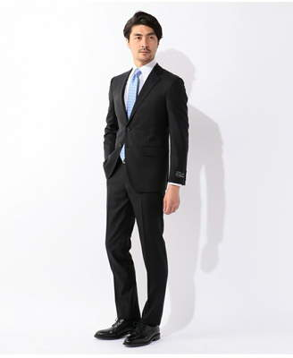 gotairiku (五大陸) - gotairiku フレッシャーズ スーツ シャドウストライプ 黒 ゴタイリク ビジネス/フォーマル