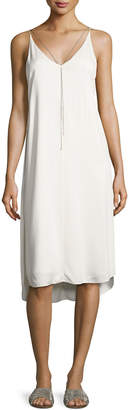 Alexander Wang Sleeveless Stretch Crepe Midi Dress