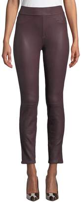 7 For All Mankind Jen7 by Comfort Leather-Like Ponte Skinny Jeans