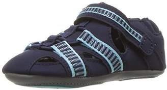 Robeez Boys' Sandal-Mini Shoez Crib Shoe