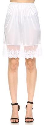 Melody Women's single lace satin underskirt skirt extender half slip for lengthening