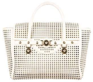 Versace Leather Perforated Satchel