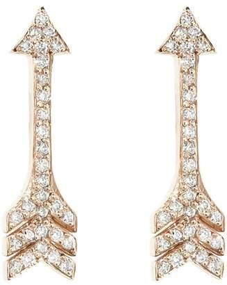 Jennifer Meyer Diamond Arrow Stud Earrings - Rose Gold