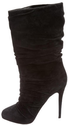 Christian Louboutin Christian Louboutin Suede Mid-Calf Boots