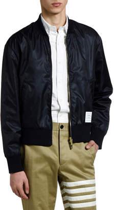 Thom Browne Men's Nylon Satin Bomber Jacket