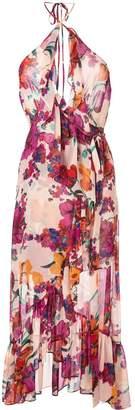 MISA Los Angeles floral draped dress