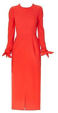 Carolina Herrera Women's Long-Sleeve Bow Wrist Tie Cocktail Dress