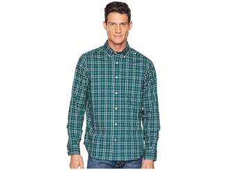Nautica Long Sleeve Wear to Work Medium Yarn-Dyed Plaid Woven Shirt