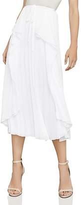 BCBGMAXAZRIA Bre Pleated Midi Skirt