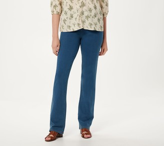 Denim & Co. Tall Comfy Knit Smooth Waist Lightly Boot-Cut Jeans
