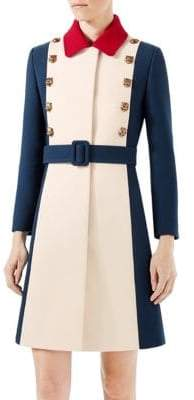 Gucci Wool A-Line Coat