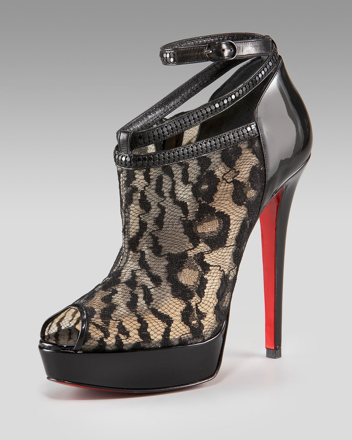 Christian Louboutin Lace Bootie