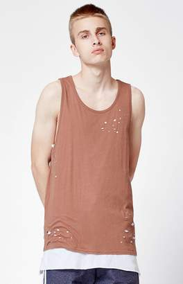 PacSun Nobu Destroyed Layer Extended Length Tank Top