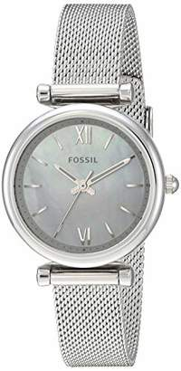 Fossil Women's 'Carlie Mini' Quartz Stainless Steel Watch