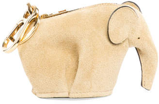 Loewe Suede Elephant Bag Charm/Coin Purse, Gold