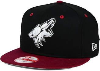 New Era Arizona Coyotes Black White Team Color 9FIFTY Snapback Cap