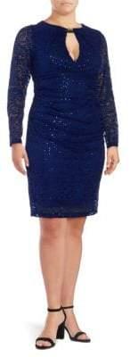 Marina Solid Long-Sleeve Dress