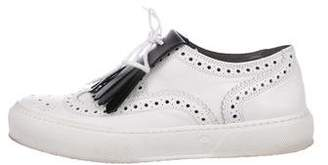 Robert Clergerie Brogue Leather Sneakers