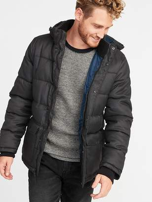 Old Navy Quilted Detachable-Hood Heritage Jacket for Men