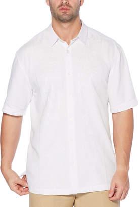 Cubavera Big & Tall Embroidered Tropical Panel Shirt
